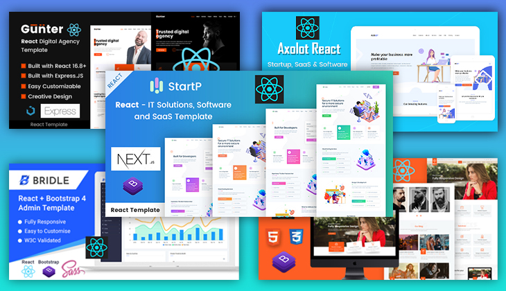 Top 11 Reactjs Templates To Start Your Next Awesome Website Project Techsolutionshere Com