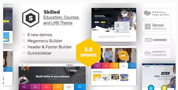 Skilled LMS WordPress Theme